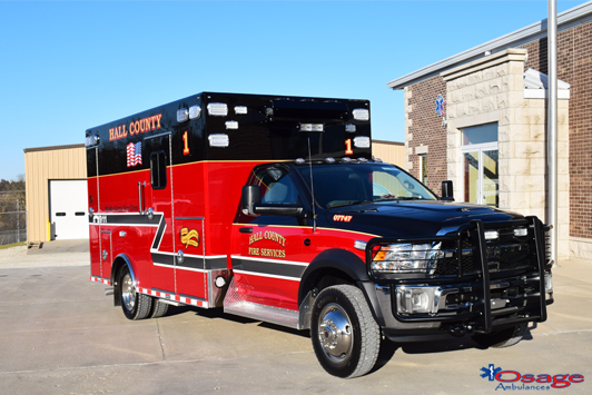 Type I Super Warrior Dodge Ram 4500 Ambulances sold to Hall County